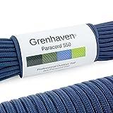 Grenhaven - 31 Metros m Soporta 250 Kilogramo kg 550 lbs Cuerda de Paracaídas - Para...