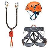 Climbing Technology Kit Ferrata Plus Galaxy, Set Unisex Adulto, Multicolor, Talla...